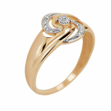 Galactic Diamond Ring. 585 (14kt) Rose and White Gold