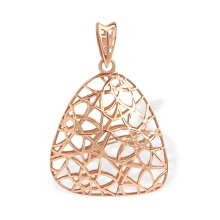 'Fashion Web' Pendant. 585 (14kt) Rose Gold
