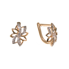 CZ Overlap Earrings