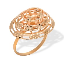 Rose Gold Layered Ring. 585 (14K) Rose Gold