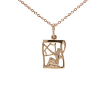 Rose Gold Pendant 'Sagittarius Zodiac'. (November 23-December 21)