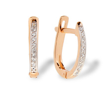 Diamond Leverback Earrings