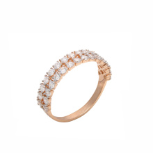 Double-Row Half Eternity CZ Band