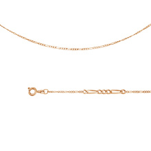 Figaro-link Chain (0.3 mm Gold Wire)
