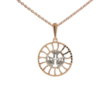 Sunburst-inspired Pendant 'Gemini Zodiac'. (May 21-June 21)