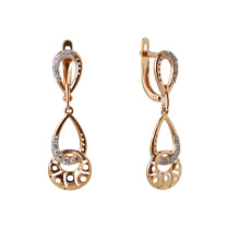 Swaying CZ Earrings