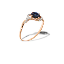 "Sapphire ""Flower of Life"" and  Diamond Ring"