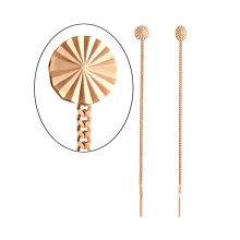 Circle Top Chain Earrings. 585 (14kt) Rose Gold