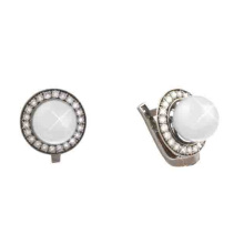 Saltwater Pearl & Diamond Halo Earrings