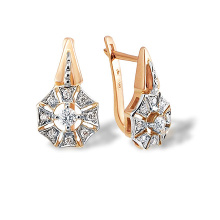 Art Deco-style Certified Diamond Earrings