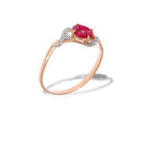 Ruby 'Flower of Life' and Diamond Ring