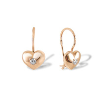 Heart-shaped Kids Earrings