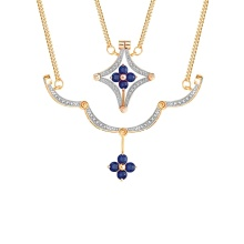 Sapphire and Diamond Convertible Necklace