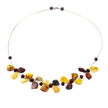Amber necklace butterfly