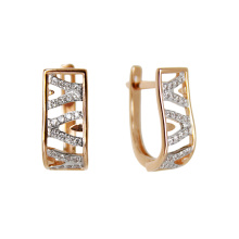 Russian Openwork Earrings with CZ