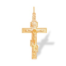 'The Star of Bethlehem' Orthodox Cross. 585 (14K) Rose Gold