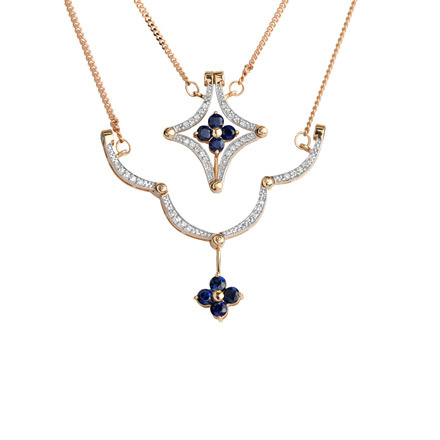Sapphire convertible necklace