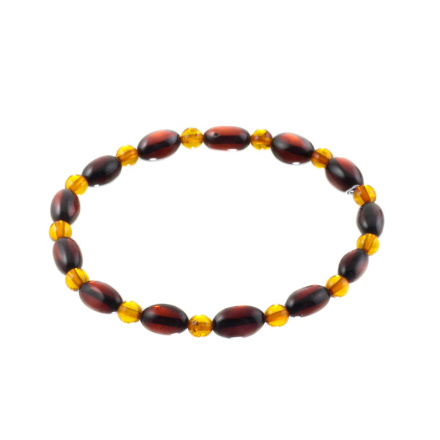 Cherry Amber Stretch Bracelet