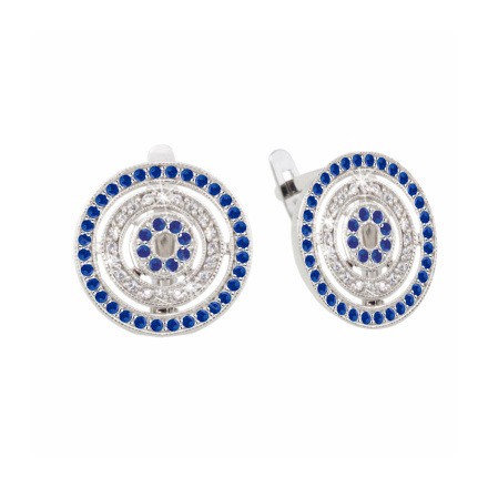 White Gold Sapphire Earrings