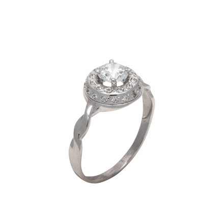 CZ twisted shank ring