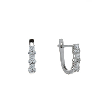 Swarovski CZ Cluster Earrings