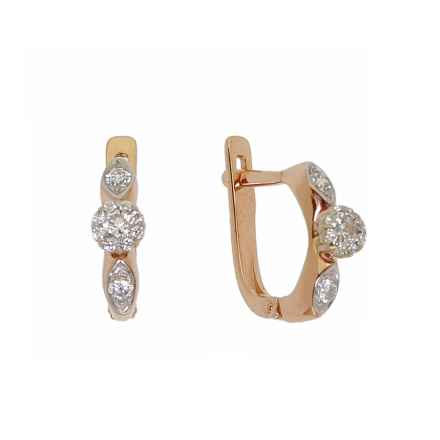 Rose Gold Earrings With CZ