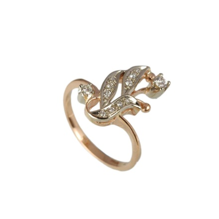 Russian Diamond Floral Motif Ring
