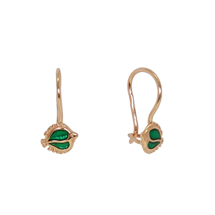 Kids earrings with enamel
