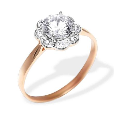 58574d1b0f555 CZ Rose Gold Ring