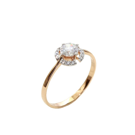 Rose gold Signity CZ ring