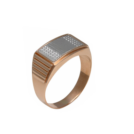 Rose gold men signet