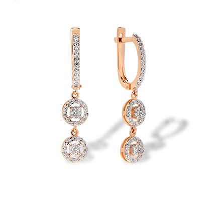 Diamond Chandelier Style Dangle Earrings
