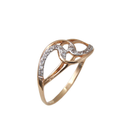 CZ Rose Gold Ring. Contemporary Elegance