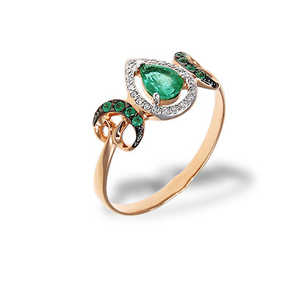 A Decadent Era-inspired Emerald Ring