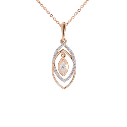CZ Marquise-shaped Pendant