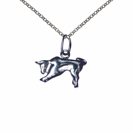 Taurus Silver Sculpture Pendant. April 21 - May 20