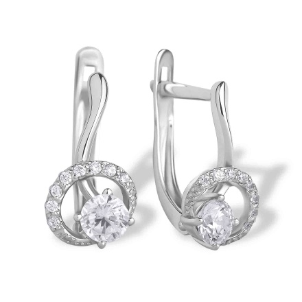 Swarovski CZ White Gold Earrings