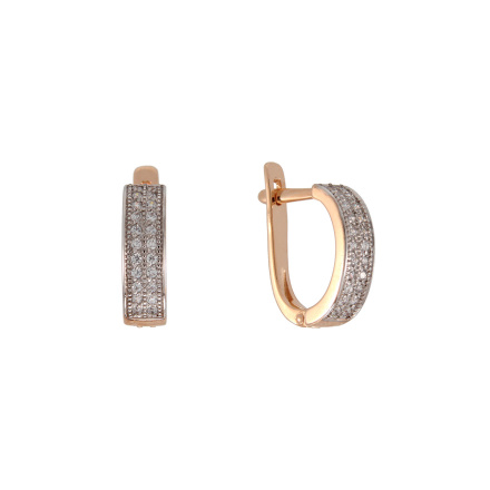 CZ Russian gold earrings
