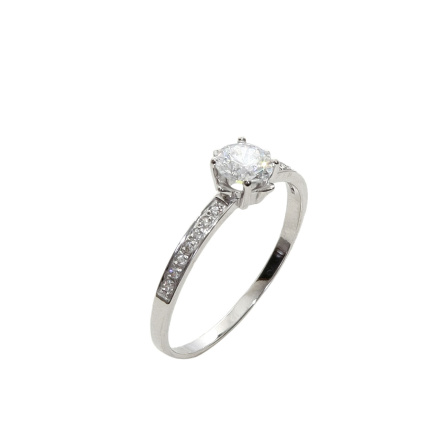 CZ White Gold Ring