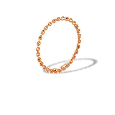 Bead Style Rose Gold Ring