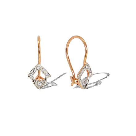 CZ Earrings With French Wire Locking Backs