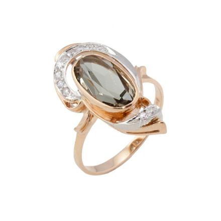 Oval Rauh Topaz & Diamond Party Ring