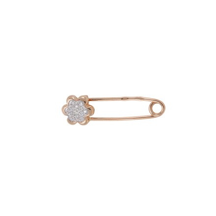 Gold safety pin