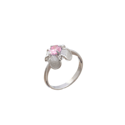 Silver flower ring on sale