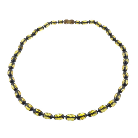 Faceted Green Amber Necklace