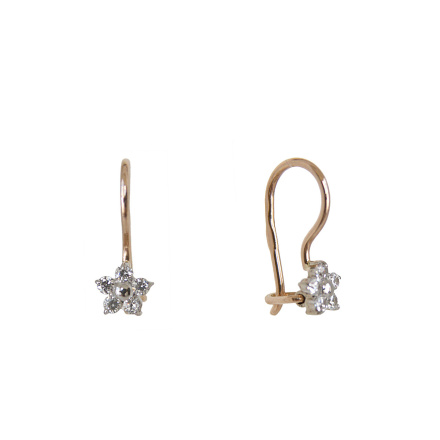 Star-shaped earrings with CZ