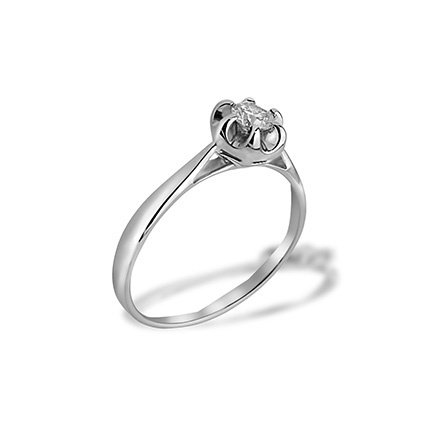 Diamond Water Lily Engagement Ring