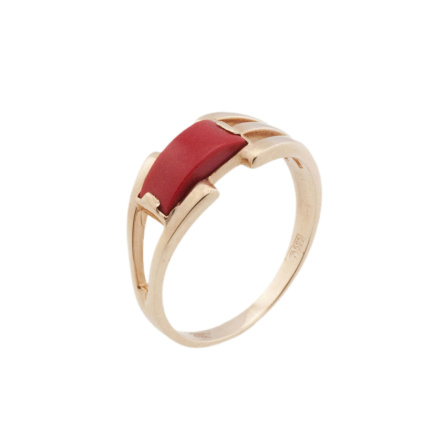 Coral ring on sale