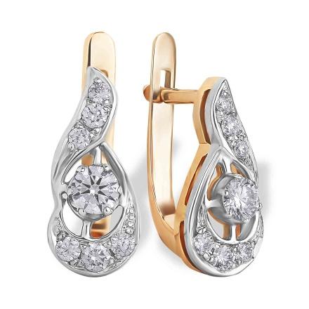 Vintage Look Certified Diamond Earrings