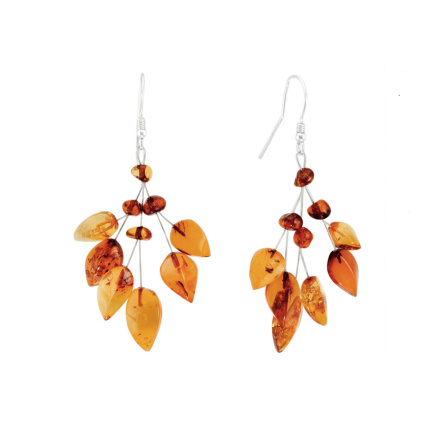 """Foliage"" Amber Earrings"